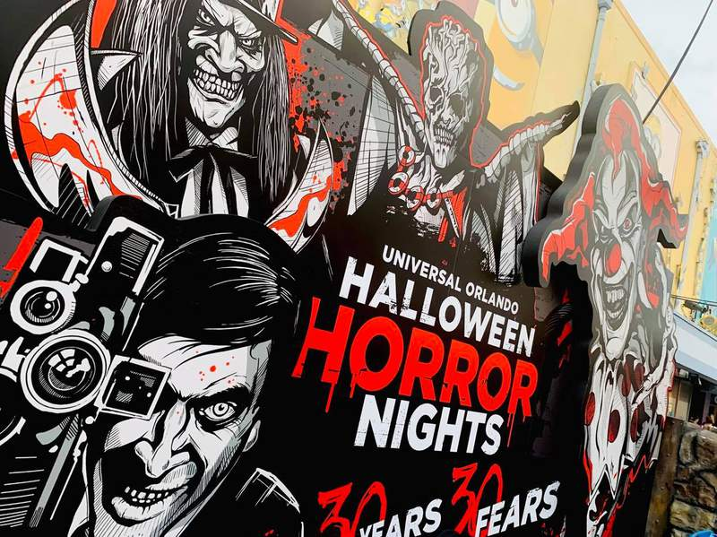 Halloween Horror Nights Icons displayed for upcoming 2021 event