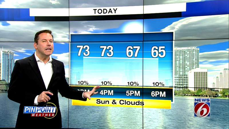Mild day after foggy start in Orlando area