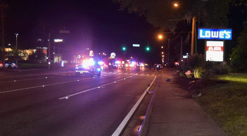 Police say a 22-year-old man was fatally struck while walking on the sidewalk.