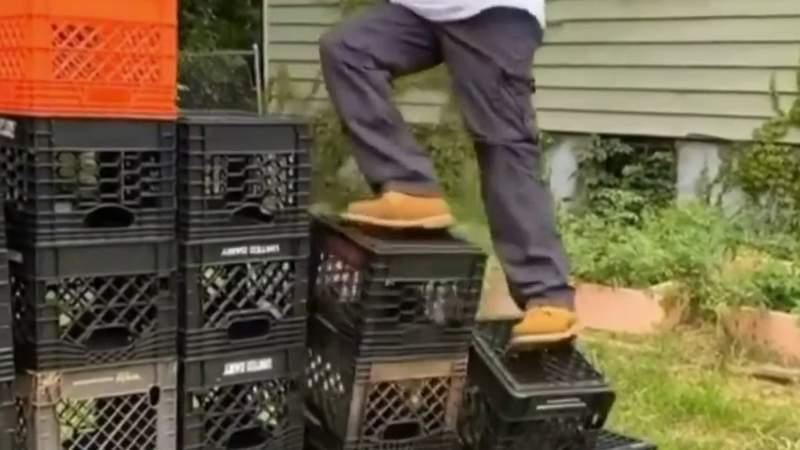 Viral milk crate challenge prompts warnings