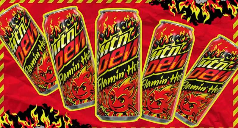 Pepsico to sell Flamin' Hot Mountain Dew