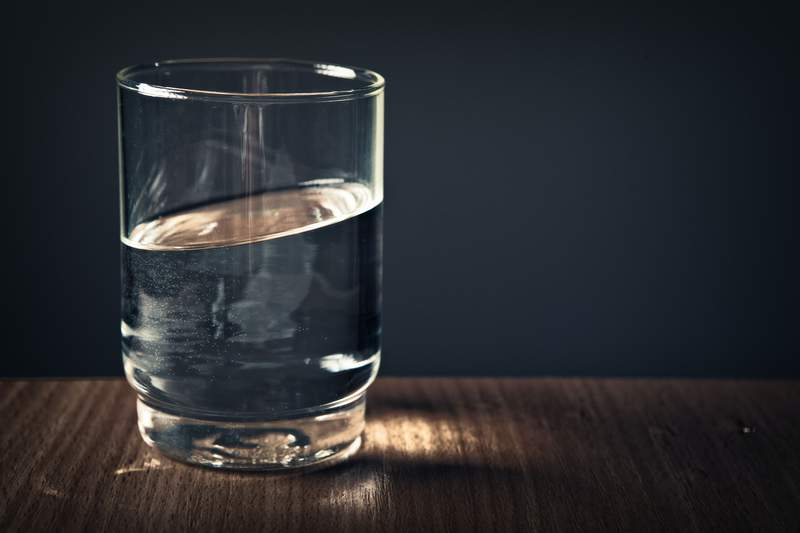 Glass of water.
