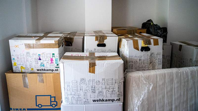 Moving, boxes.