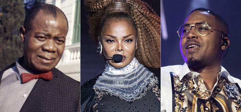 Jazz musician Louis Armstrong appears in Rome in 1968, from left,  Janet Jackson performs at the Essence Festival in New Orleans on July 8, 2018, and Nas performs at the Essence Festival in New Orleans on July 6, 2019. Jacksons socially conscious album Rhythm Nation 1814,  Armstrongs jazzy When the Saints Go Marching In and Nas debut release Illmatic are among 25 recordings being inducted to the National Recording Registry. (AP Photo)