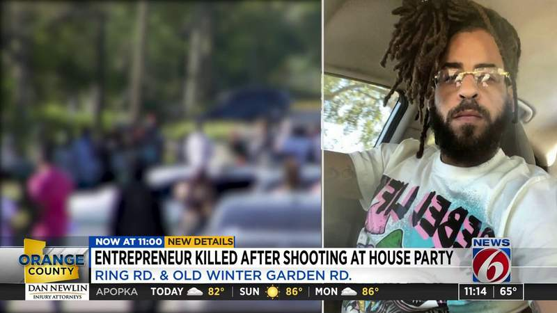 Entrepreneur killed after shooting at house party