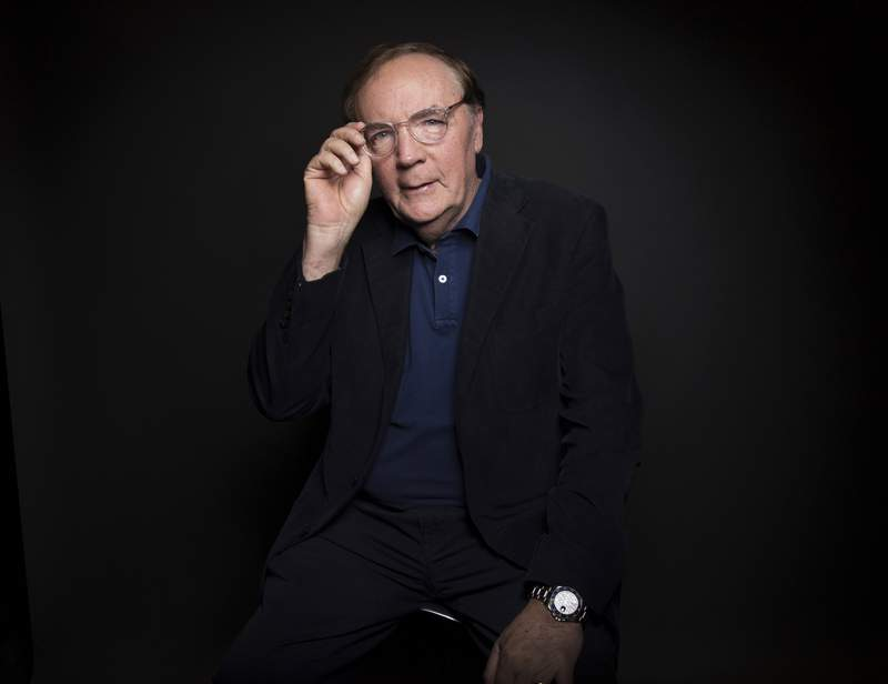 FILE - In this Aug. 30, 2016, file photo, author James Patterson poses for a portrait in New York. Patterson announced #SaveIndieBookstores, a partnership with the American Booksellers Association and the Book Industry Charitable Foundation. He is contributing $500,000 and is urging others to contribute this month. Patterson has a history of helping independent bookstores. The best-selling novelist has donated millions in recent years to booksellers. He's also given millions to schools and libraries and literacy programs.(Photo by Taylor Jewell/Invision/AP, File)