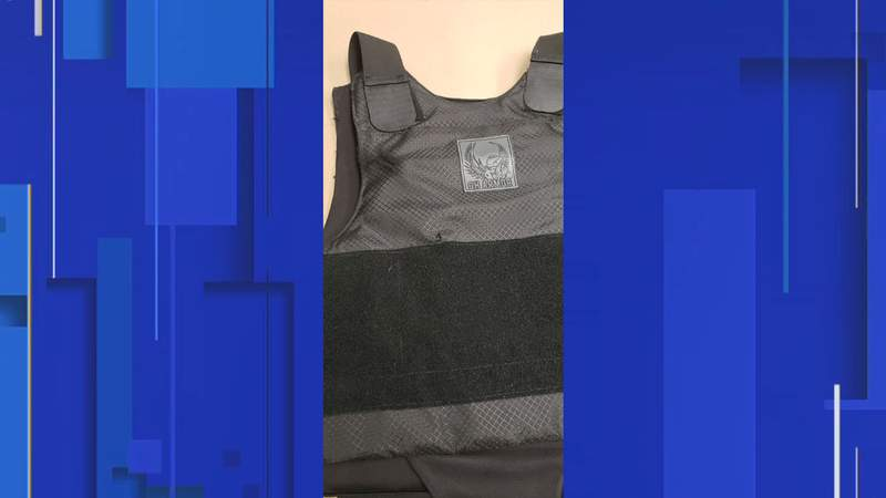 Here's the bullet-proof vest to save the life of a Daytona Beach officer.