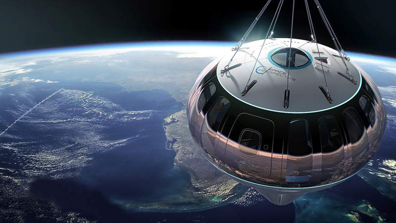 Space Perspectives plans to launch its Neptune Capsule from Kennedy Space Center. (Image: Space Perspectives)