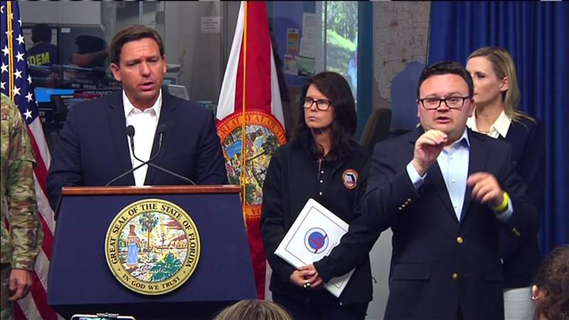 Florida Gov. Ron DeSantis gives an update Sunday on the state's response to coronavirus outbreak.
