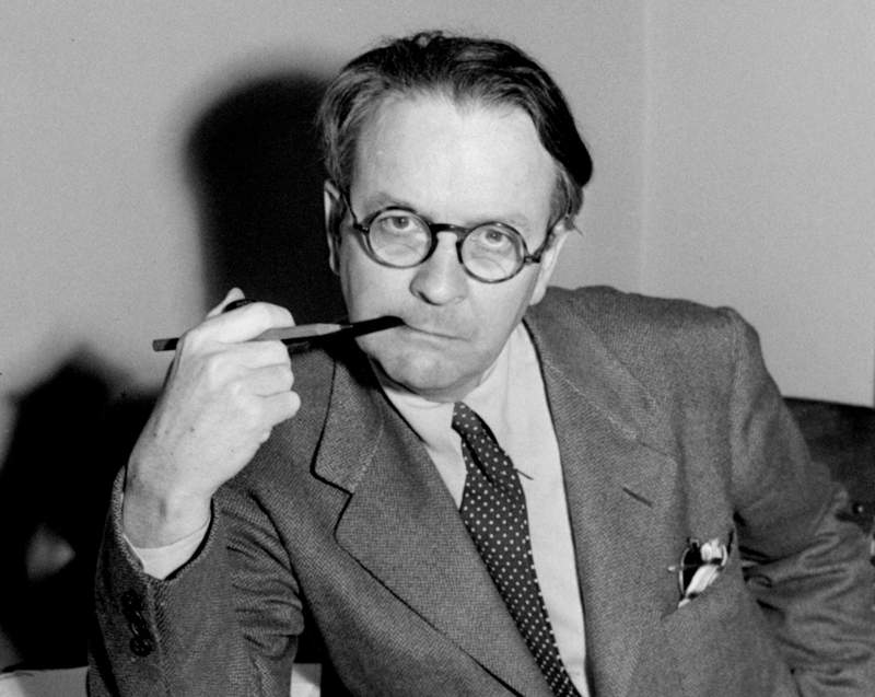 FILE - This 1946 file photo shows mystery novelist and screenwriter Raymond Chandler. Advice to a Secretary, a rarely seen sketch published this week in the spring issue of the literary quarterly The Strand, is a wry set of instructions for his assistant in the 1950s, Juanita Messick.  (AP Photo, File)