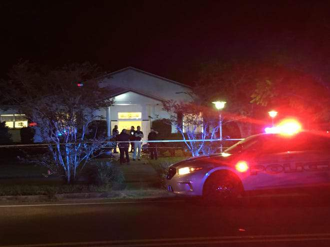 Crime scene Saturday night where a party renting the Cocoa Rockledge Garden Club building was held. (Photo: Tim Shortt)