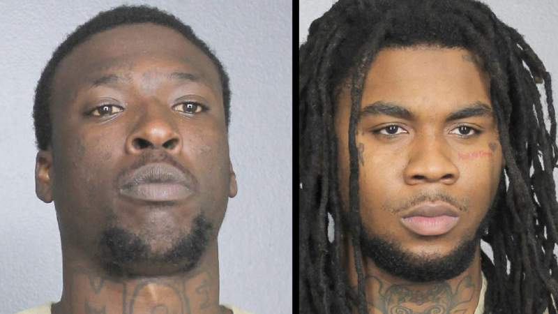 Dionte Alexander-Wilcox (left) and Kejuan Brandon Campbell (right) were arrested for kidnapping and conspiracy to kidnap, U.S. Attorney Ariana Fajardo Orshan's office announced.
