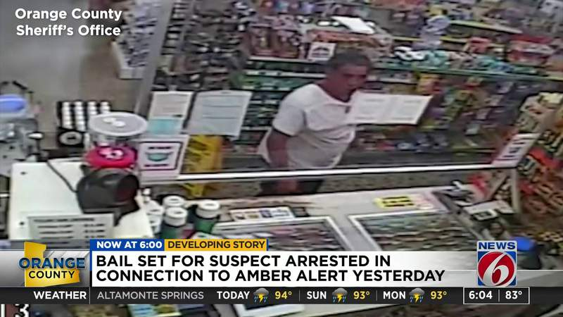 Bail set for suspect arrested in connection to Amber Alert yesterday