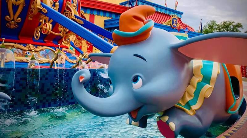 Dumbo attraction at Disney's Magic Kingdom