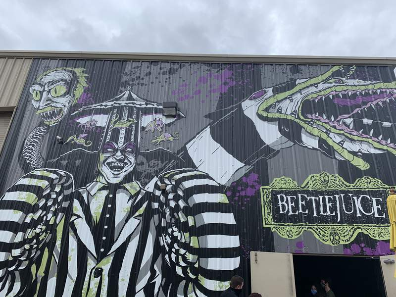 Universal Orlando opens Beetlejuice themed haunted house to guests.