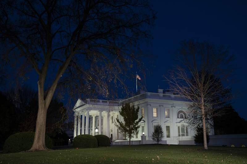 A view of the White House, Wednesday, Nov. 18, 2020, in Washington. (AP Photo/Evan Vucci)