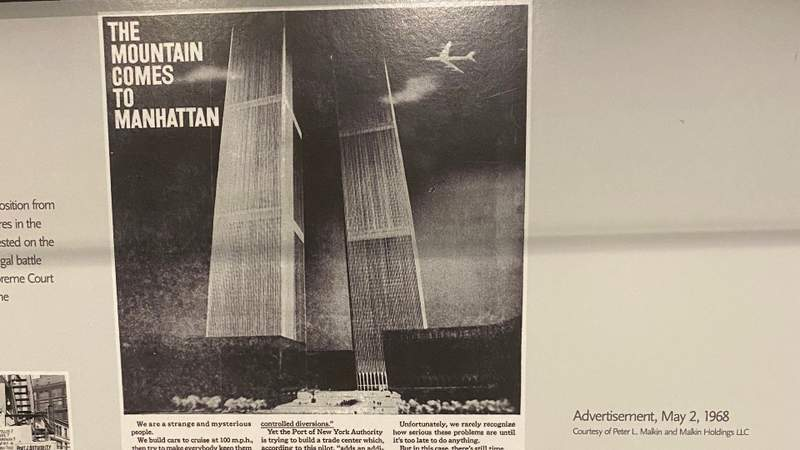 A 1968 ad in the New York Times by the Committee for a Reasonable Trade Center suggested that the World Trade Center would, once finished, be an interference for air traffic.