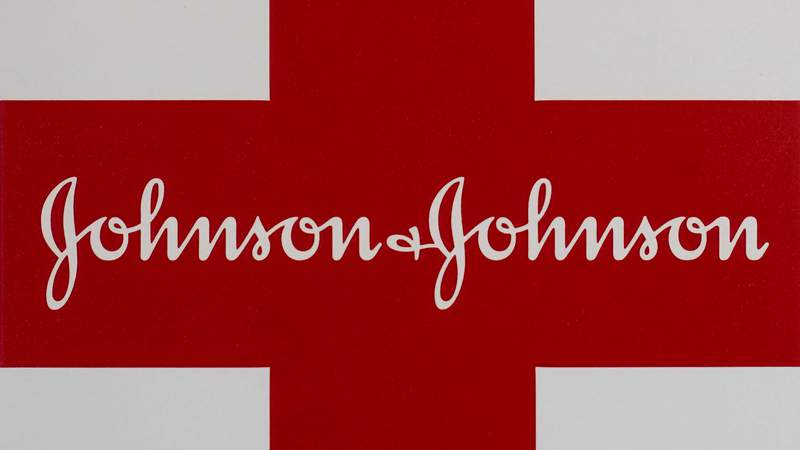 This Feb. 24, 2021 photo shows a Johnson & Johnson logo on the exterior of a first aid kit in Walpole, Mass. Johnson & Johnson is recalling five of its sunscreen products after testing found low levels of benzene _ a chemical that can cause cancer with repeated exposure _   in some product samples, the company said late Wednesday, July 14, 2021. (AP Photo/Steven Senne, file)