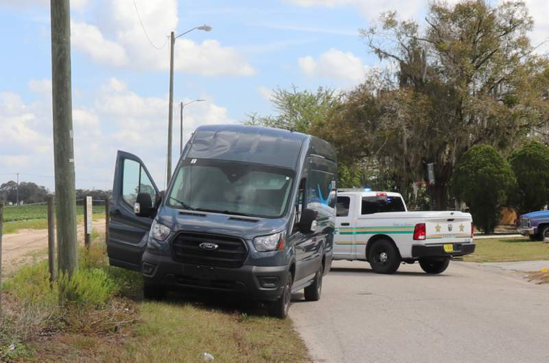 An Amazon delivery van was recovered near the intersection of Radford Road and North Avenue in the Gordonville area of Bartow. (Image: Polk County Sheriff's Office)