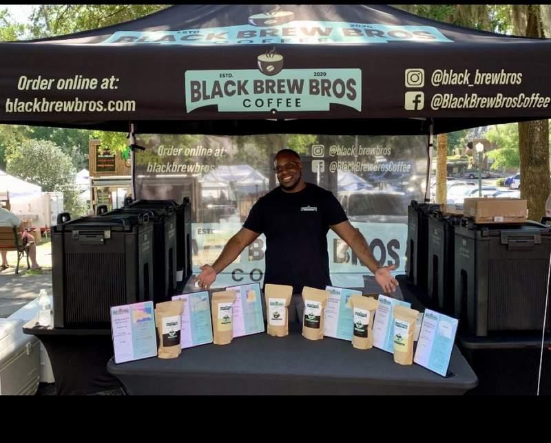 Brandon Erving, founder of Black Brew Bros coffee.