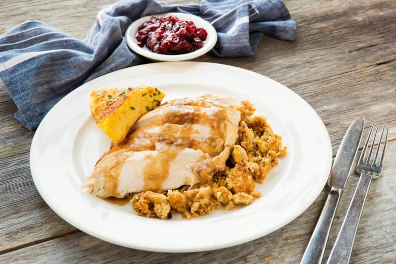 Turkey dinner at B&B Butchers & Restaurant