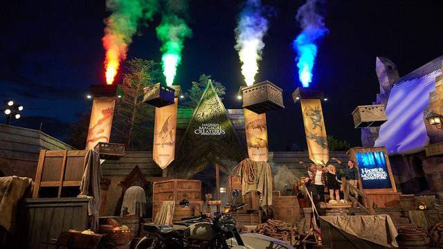 Grand Opening of Hagrid's Magical Creatures Motorbike Adventure Hogsmeade