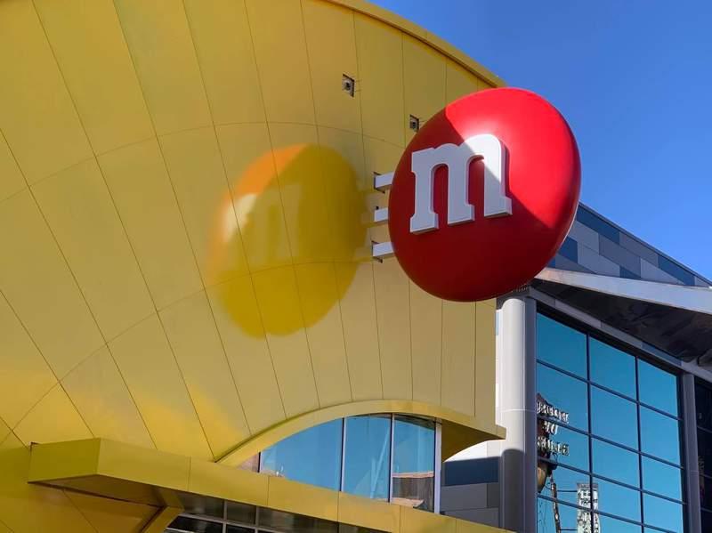 M&M's store at Disney Springs still under construction