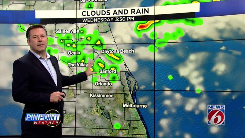 Warmer weather, lower rain chances in Central Florida