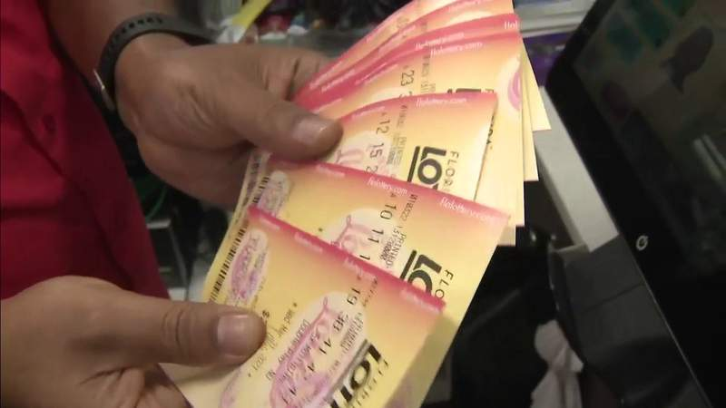 Florida Lotto lottery tickets are seen at a Shell station in Davie, Florida, that sold a $28 million jackpot winner.