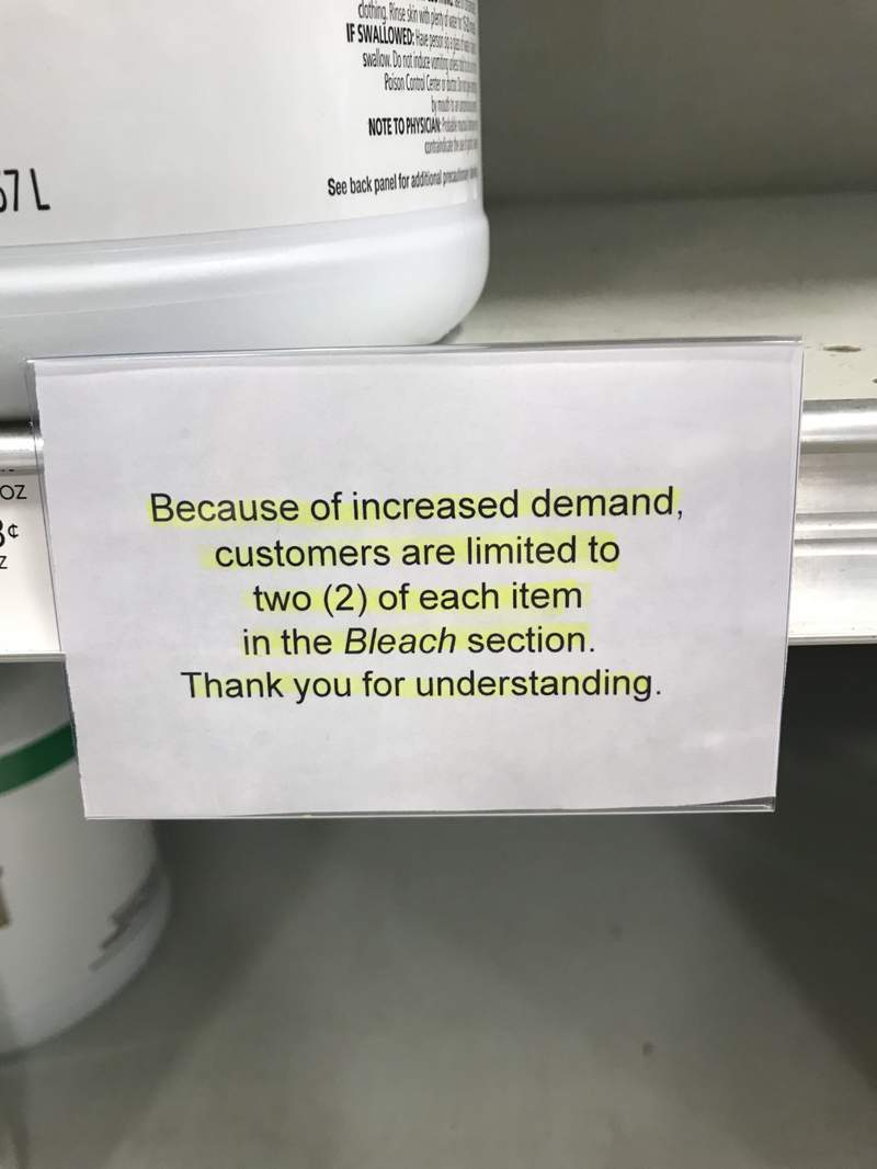 Customers are limited to buying two items in certain sections of Publix stores