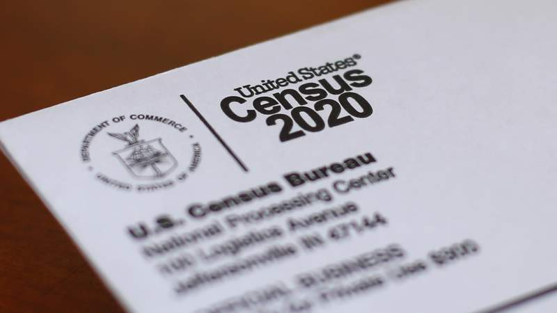This Sunday, April 5, 2020, photo shows an envelope containing a 2020 census letter mailed to a U.S. resident in Detroit. If you're a census slacker and havent yet filled out the form for the 2020 head count, the federal government is trying another way to get in touch with you. Starting Wednesday, the U.S. Census Bureau is mailing out millions of paper forms to homes whose residents havent yet answered the once-a-decade questionnaire. (AP Photo/Paul Sancya)