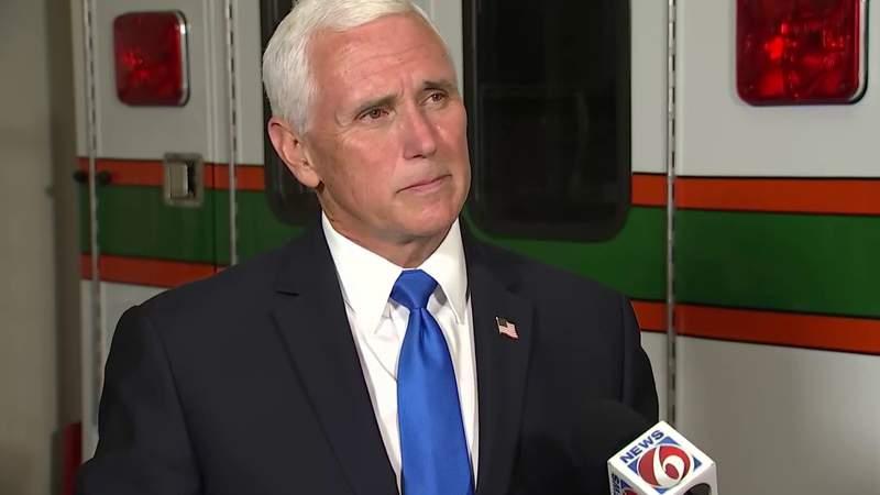 Vice President Mike Pence speaks to News 6 about Florida's coronavirus response