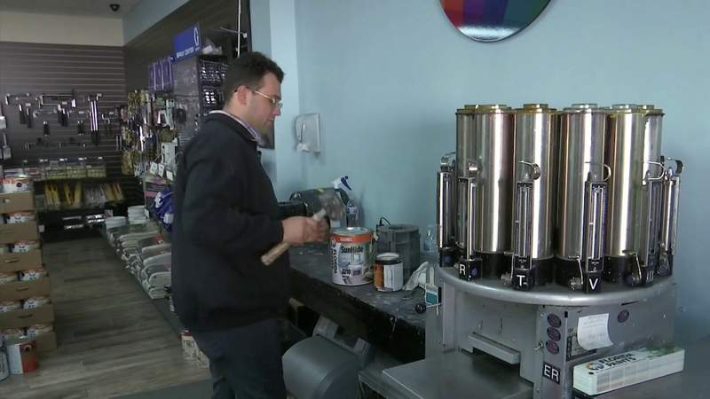Viral TikTok paint-mixer hired by Central Florida business after publicized termination