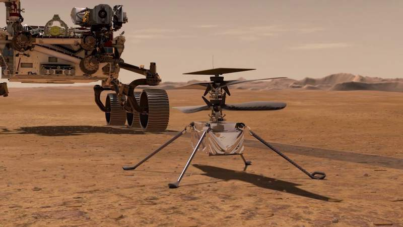 NASA preparing Ingenuity helicopter for flight on Mars after finding airfield