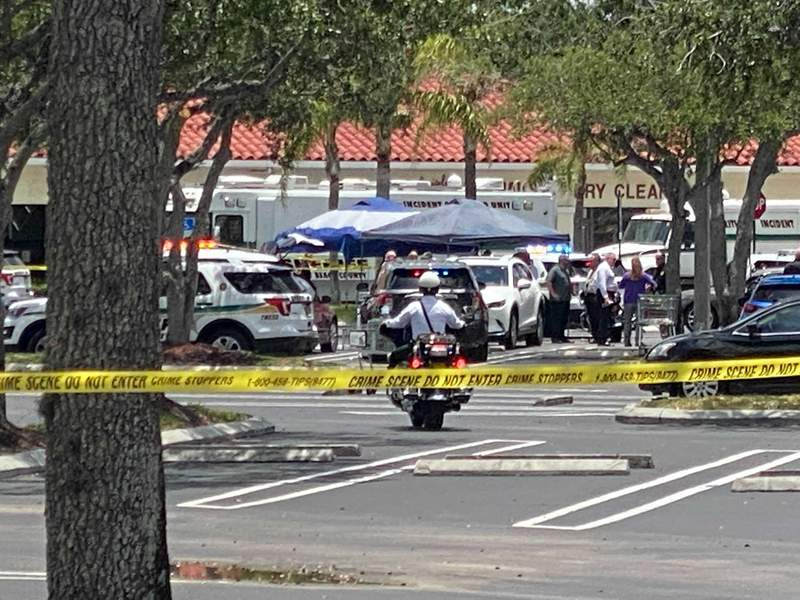 A shooting inside a Florida supermarket Thursday left three people dead, including the shooter, authorities said.