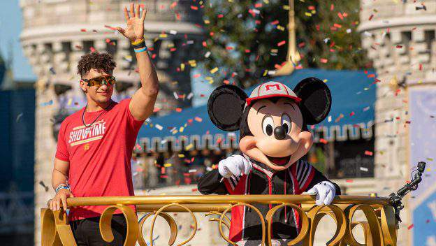 Super Bowl LIV MVP Patrick Mahomes Spends a Magical Day at Walt Disney World Resort Mon, Feb. 3, 2020