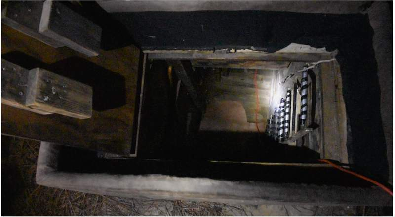 Walton County Sheriff's Office released this photo of the hidden bunker located at Bass's home.