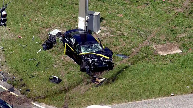Six people were injured in a two-vehicle crash in Orange County.
