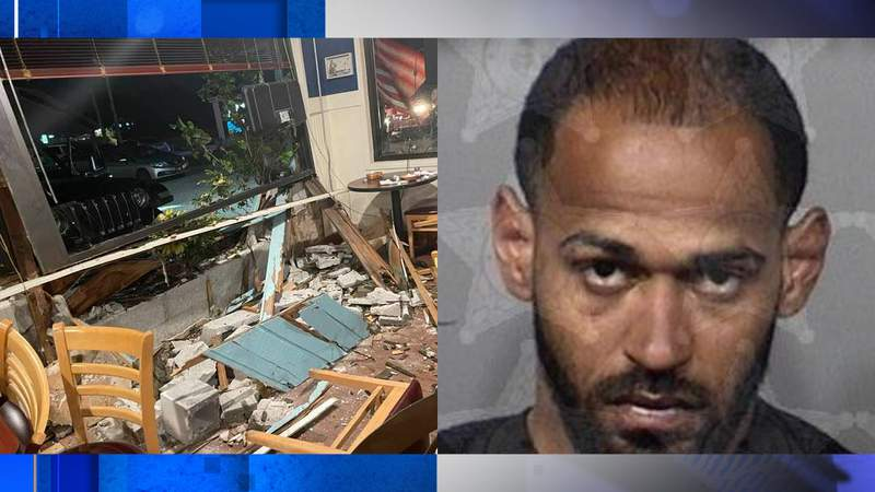 (Left) Damage done to Izzy's Diner, (Right) Alexander Myers