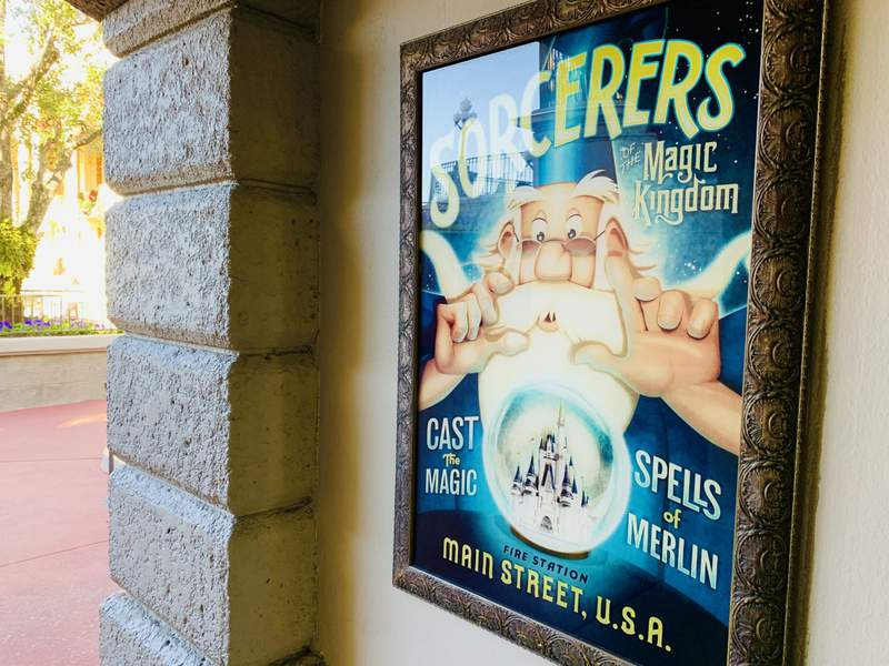 Sorcerers of the Magic Kingdom posted  posted at the entrance of Magic Kingdom on Jan. 9, 2021