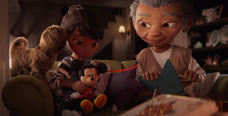 Disney's 2020 Christmas advert will tug at your heart strings. (Credit: Disney)