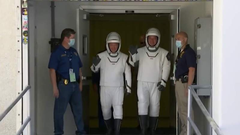 Space Coast residents buzzing ahead of historic astronaut launch
