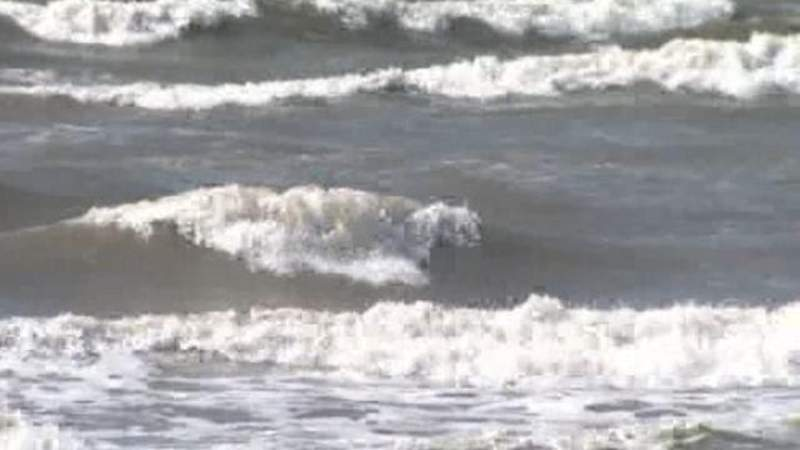 Increased risk of rip currents at the coast
