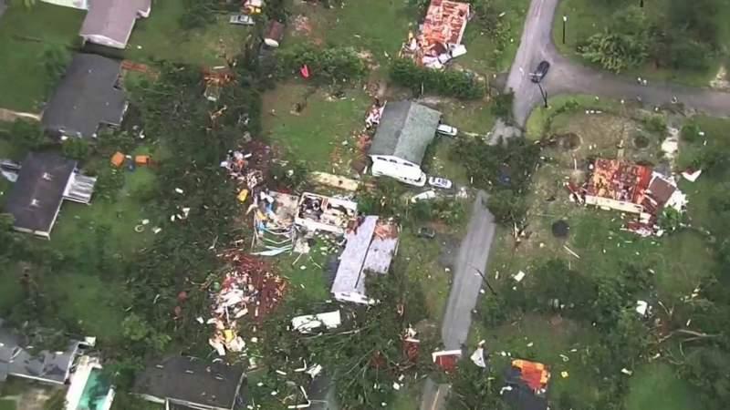 DeLand homes damaged after possible tornado