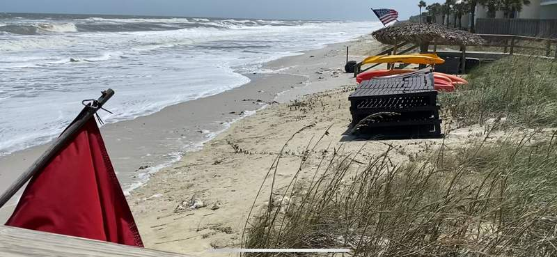 High tide flooding to continue for days as beach try to settle down