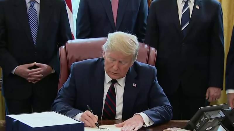 President Trump signs $2.2 trillion economic rescue package amid coronavirus pandemic
