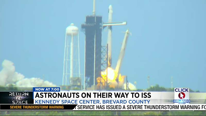 Astronauts on their way to ISS