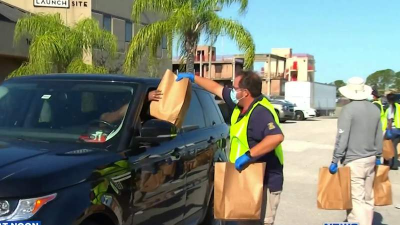 Masks, hand sanitizer handed out to Orange County small businesses