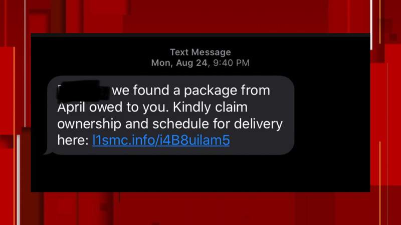"""Authorities warn of text message """"scam"""" about pending packages."""