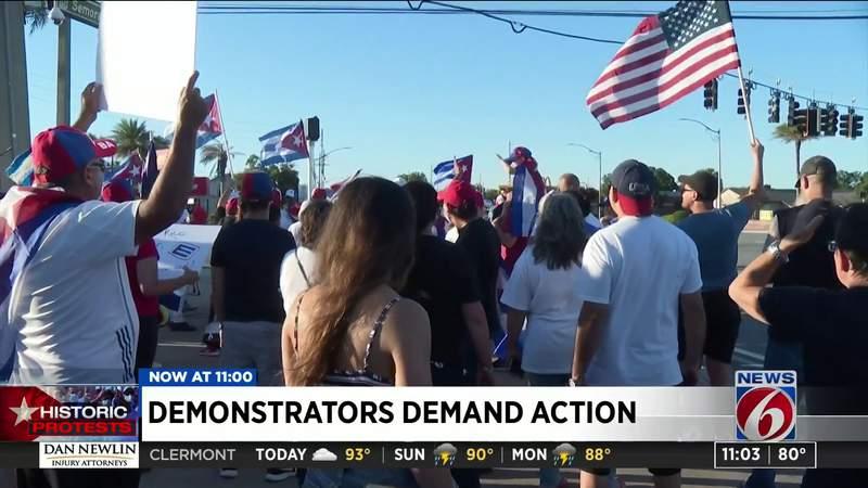 Demonstrators demand action